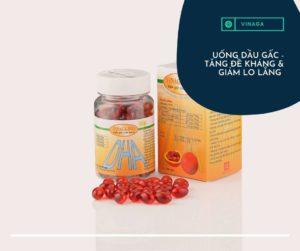 Uống dầu gấc Vinaga hàng ngày để tăng cường sức đề kháng và giảm lo lắng